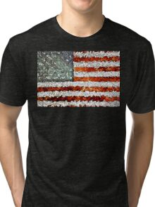 American Flag Abstract Tri-blend T-Shirt