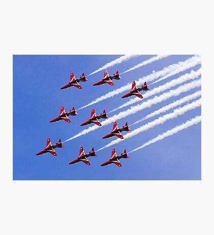 Red Arrows Smoke Photographic Print
