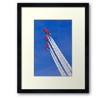 Red Arrows Climb Framed Print