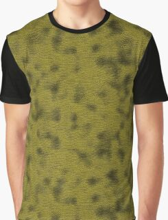Green Lizard Skin Texture Graphic T-Shirt