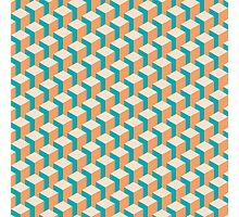 Isometric Geometrical Pastel Blocks Pattern Photographic Print