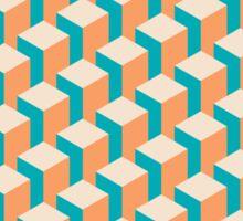 Isometric Geometrical Pastel Blocks Pattern Sticker