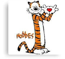 Calvin And Hobbes love Canvas Print