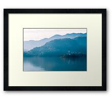 morning at the lake of Bled Framed Print