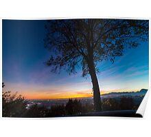 Sunset on Tagliamento river Poster