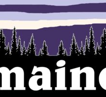 Purple Maine Sticker