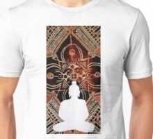 Buddha - originally 7x14 acrylic on canvas by Minxi Unisex T-Shirt