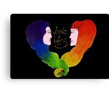 Love wins - LGBT+ - Pride  Canvas Print