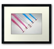 Red Arrows perfect formation Framed Print