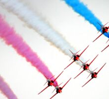 Red Arrows perfect formation Sticker