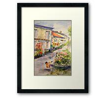 French Village Framed Print