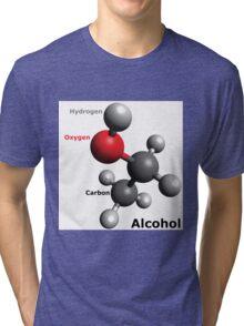 Alcohol Molecule - Drink up! Tri-blend T-Shirt