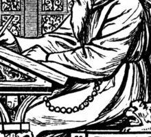 The writing monk Sticker
