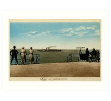 Vintage 1910 The Mailboat from the promenade, Ostend-Dover Art Print