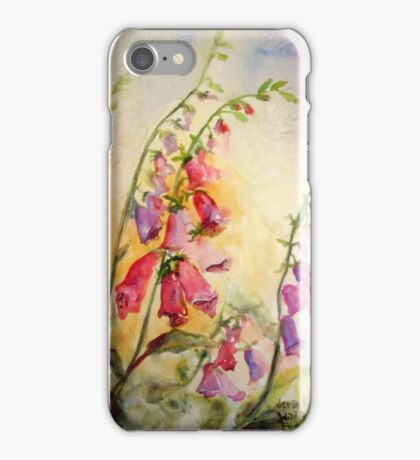 French Foxgloves iPhone Case/Skin