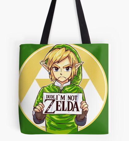 Dude, I'm Not ZELDA! Tote Bag