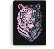 Sequined Tiger Canvas Print