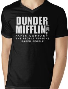 Dunder Mifflin The People Persons Paper People Mens V-Neck T-Shirt