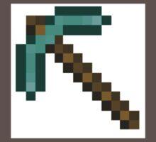 Minecraft Diamond Pickaxe On Heart Kids Clothes