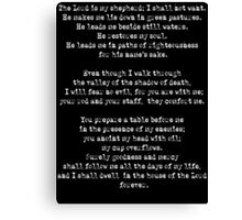 The Lord Is My Shepherd Psalm 23 T Shirt Canvas Print