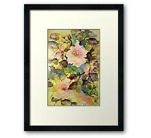 Lattice Roses Framed Print
