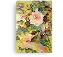 Lattice Roses Canvas Print