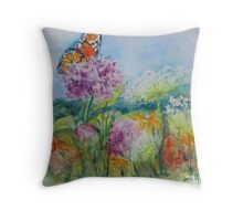 Indiana Prairie Wild Flowers Throw Pillow