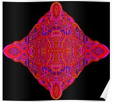 Psychedelic Abstract colourful work 21(partB) Poster