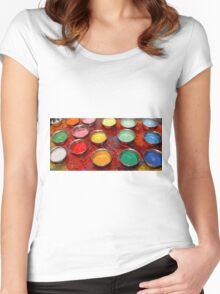 Mandala Sand Women's Fitted Scoop T-Shirt