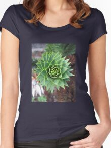 Monkey Puzzle Tree Women's Fitted Scoop T-Shirt