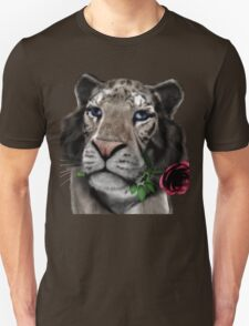 White Tiger With The Pink Rose T-Shirt