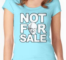 Bernie is not for sale Women's Fitted Scoop T-Shirt