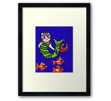 Clawdia the Mermaid Framed Print