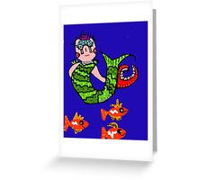 Clawdia the Mermaid Greeting Card