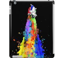 Rainbow Spaceship Dark Background iPad Case/Skin