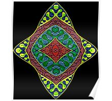 Psychedelic Abstract colourful work 90(partA) Poster