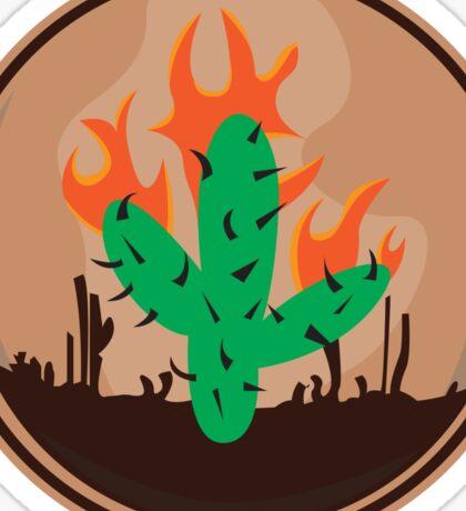 travis scott cactus la flame Sticker