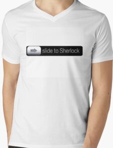 Slide To Sherlock Mens V-Neck T-Shirt