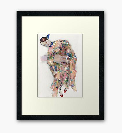 Delpozo fashion illustration Framed Print