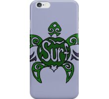 Cool Fun Surfing Turtle Art iPhone Case/Skin