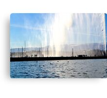 Silhouettes at the Jet d'eau - Geneva Canvas Print