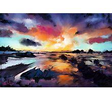 Sunset Seascape Photographic Print