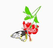 Birdwing Butterfly Women's Fitted V-Neck T-Shirt