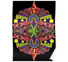 Psychedelic Abstract colourful work 118(part) Poster