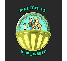 Pluto is a Planet (Rick and Morty) Photographic Print