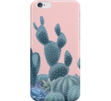 Serenity Cacti on Rose Quartz Background iPhone Case/Skin