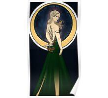 Art Nouveau Aelin Ashyver Galathynius - Throne of Glass Poster