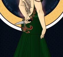 Art Nouveau Aelin Ashyver Galathynius - Throne of Glass Sticker