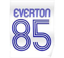Superteams #85 in a series Everton 1985 Poster