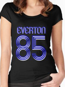 Superteams #85 in a series Everton 1985 Women's Fitted Scoop T-Shirt